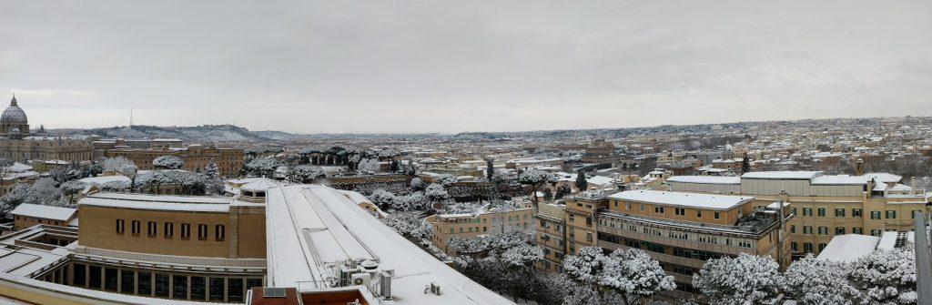 Rome Snow: Roof Panorama